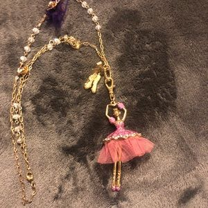 Betsey Johnson ballerina necklace